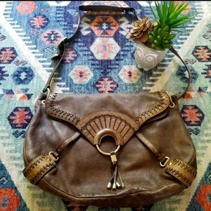 RARE Cole Haan Pebbled Leather Hobo Bag
